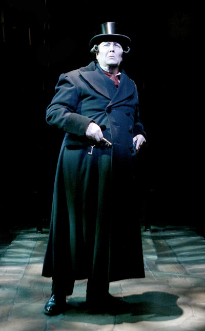 "David Coffee as Ebenezer Scrooge in North Shore Music Theatre's ""A Christmas Carol.""Photo: Paul Lyden"