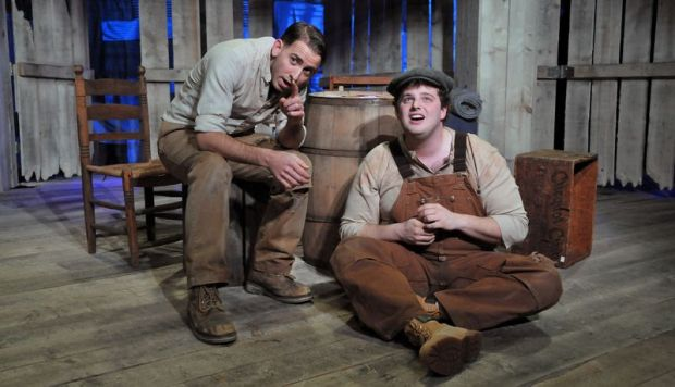 "Phil Tayler and Harry McEnerney in Moonbox Productions' ""Of Mice and Men."" Craig Bailey/Perspective Photo"