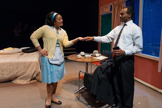 "Kami Russell Smith and Maurice Emmanuel Parent in Underground Railway Theatre's ""The Mountaintop."" Photo: A.R. Sinclair Photography."
