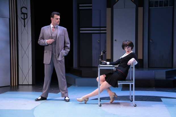 "Andrew Giordano and Ephie Aardema in Stoneham Theatre's ""Thoroughly Modern Millie."" Photo: David Costa"