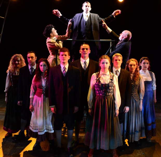 """The company in a scene from the Gloucester Stage Company's production of """"Spring Awakening."""" Photo: Gary Ng"""