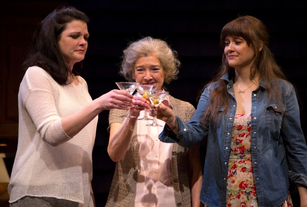 Kate Shindle, Nancy E. Carroll, and Shannon Esper in the Huntington Theatre Company's production of Gina Gionfriddo's RAPTURE, BLISTER, BURN. May 24 – June 30, 2013 at South End / Calderwood Pavilion at the BCA. photo: T. Charles Erickson.