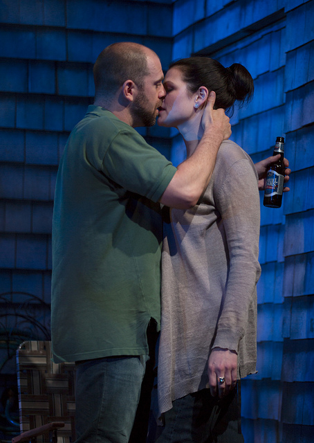 Timothy John Smith and Kate Shindle in in the Huntington Theatre Company's production of Gina Gionfriddo's RAPTURE, BLISTER, BURN. May 24 – June 30, 2013 at South End / Calderwood Pavilion at the BCA. photo: T. Charles Erickson.