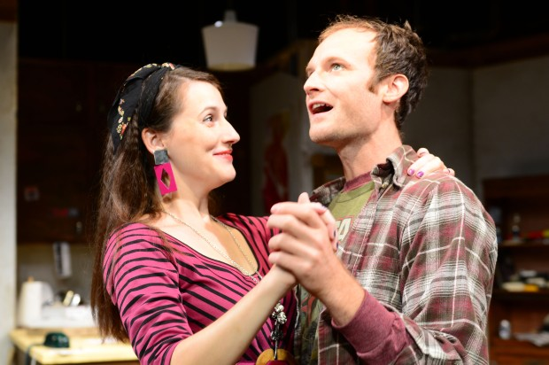 """Amand Collins and Alex Pollock dance in """"This is Our Youth"""" at the Gloucester Stage Company."""" Photo: Gloucester Stage Company"""