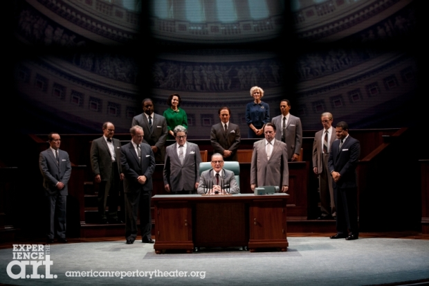 "A scene from the American Repertory Theatre's production of ""All The Way."" photo: Evgenia Eliseeva"