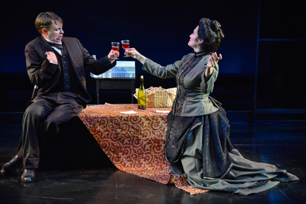 "Tim Spears as John Merrick and Valerie Leonard as Mrs. Kendal in ""The Elephant Man."" Photo: Andrew Brilliant/Brilliant Pictures"