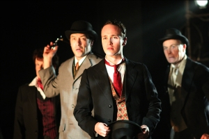 "(l to r) Cheryl McMahon*, Alexander Platt*, Nick Sulfaro, and Dale Place* in ""Dr. Jekyll and Mr. Hyde."""