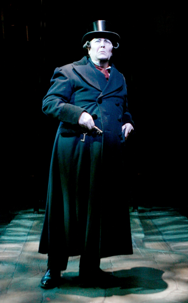 "David Coffee as Scrooge in North Shore Music Theatre's ""A Christmas Carol in 2010. Photo: Paul Lyden"