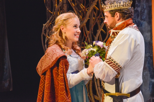 "Erica Spyres as Guenevere and Ben Evett as Arthir in New Repertory Theatre's ""Camelot."" Photo: Andrew Brilliant/Brilliant Puctures"