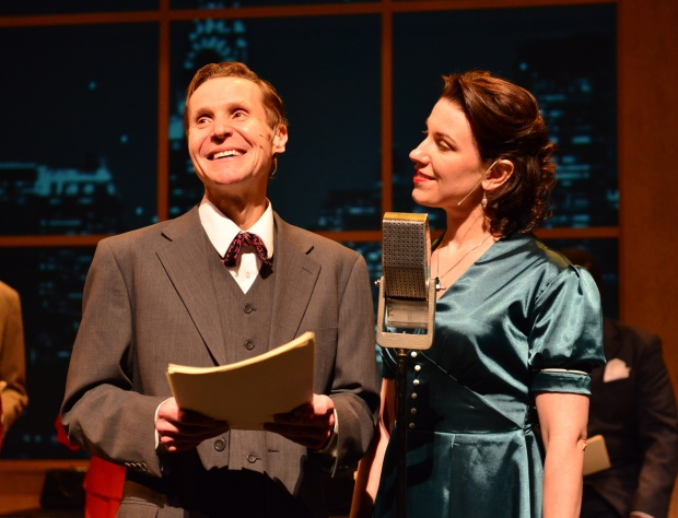 "Danny Bolton and Liz Hayes in Wheelock Family Theatre's ""It's A Wonderful Life."" Photo: Gary Ng"