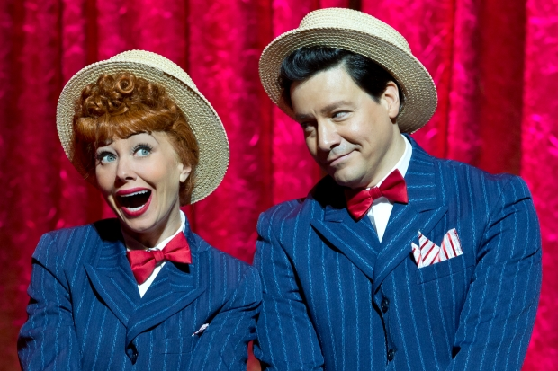 Sirena Irwin as Lucy and Bill Mendieta as Ricky  I LOVE LUCY® LIVE ON STAGE (Photo by Jeremy Daniel)
