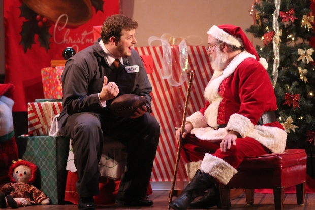 "Harry McEnerney IV and William Gardiner in Stoneham Theatre's ""miracle on 34th Street."" Photo: David Costa"
