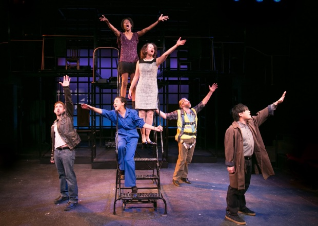 "The cast of the Lyric Stage Company production of ""Working."" Photo: Mark S. Howard"