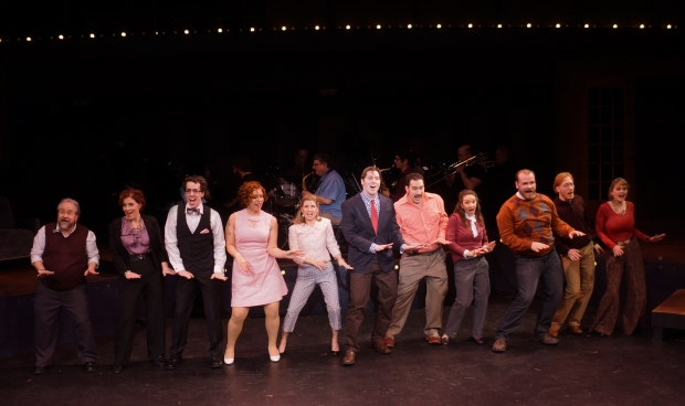 """The company performs """"Side by Side by Side"""" in the Moonbox Productions' """"Company."""" Photo: Sharman Altshuler"""