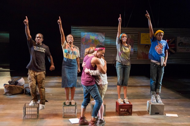 Tyrone Davis, Jr., Kristolyn Lloyd, Griffin Matthews, Emma Hunton, Nicolette Robinson, Jamar Williams in 'Witness Uganda.' Photo: GretjenHelenePhotography.com