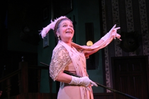 "Margaret Ann Brady as Miss Tweed in ""Something's Afoot."" Photo: David Costa"