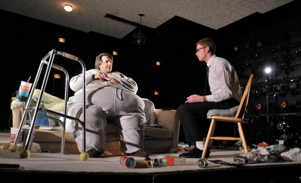 "John Kuntz and Ryan O'Connor in the SpeakEasy Stage Company production of ""The Whale."" Photo by Craig Bailey/Perspective Photo."