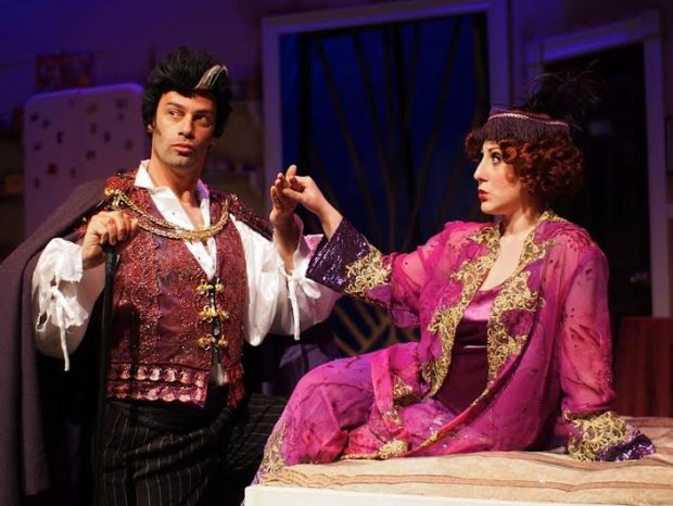 "Andrew Giordano and Corinne Mason in a scene  from the Company Theatre's ""The Drowsy Chaperone."" Photo: Zoe Bradford"