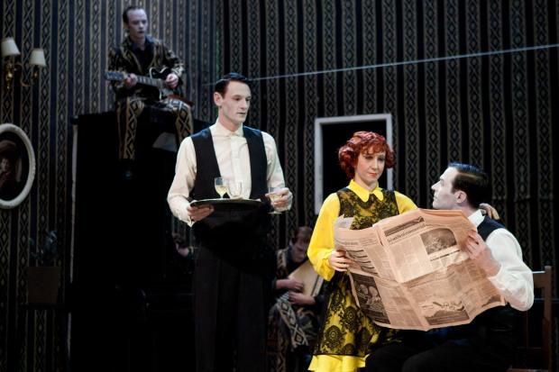 """Yannick Greweldinger, SilkeHundertmark, & Reinier Schimmel in a scene from """"Lebensraum"""""""