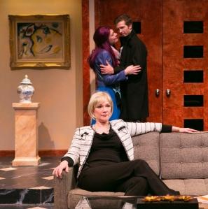 "Amelia Broome, Sasha Catroverde and Joe Short in ""Rich Girl."" Photo: Mark Howard."