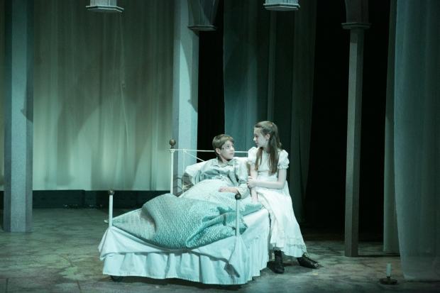 "Dashiell Evett and Brigit Smith in a scene from Stoneham Theatre's ""The Secret Garden."" Photo: Mark S. Howard"