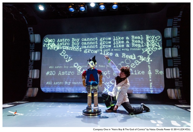 """Clark Young as Osamu Tezuka  in  Company One's """"Astro Boy & The God of Comics"""" at the Boston Center for the Arts Photo: Liza Voll"""