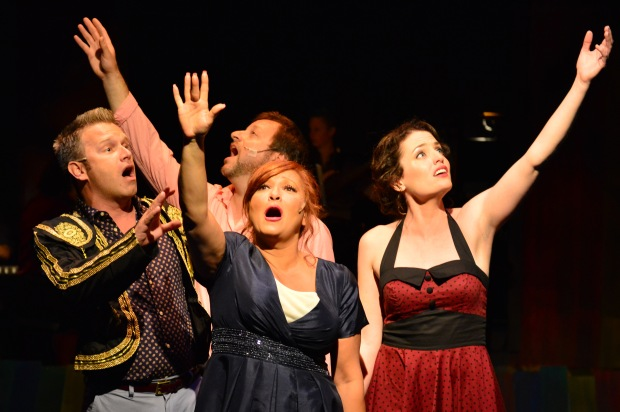 """If We Only Have Love."" L to R: Daniel Robert Sullivan, Douglas Jabara, Shana Dirik and Jennifer Ellis Photo: Gary Ng"