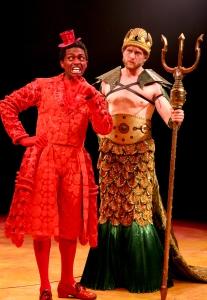 "J. Cameron Burnett as Sebastian and Mark Campbell as King Triton in Disney's ""The Little Mermaid."" Photo: Paul Lyden"