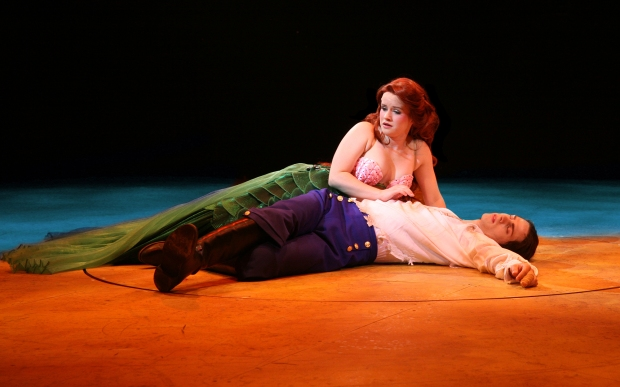 "Adrienne Eller as Ariel and Bruce Landry as Prince Eric in ""The Little Mermaid."" Photo:  Paul Lyden"