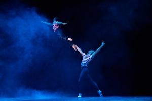 "Noah Parets and Stephen Hannah in ""Billy Elliot, The Musical."" Photo: Gary Ng"