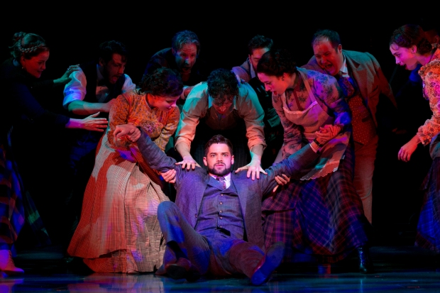 Playwright J. M. Barrie (Jeremy Jordan) gets pulled in many directions. Photo: Evgenia Eliseeva