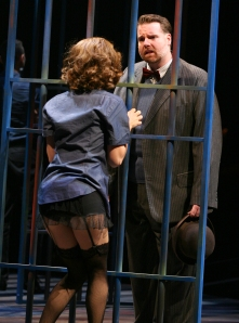 Nick Kohn (Amos) with Heather Parcells (Roxie)in North Shore Music Theatre's production of CHICAGO running September 23 thru October 5. Photo © Paul Lyden