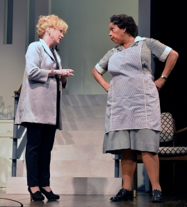 Julia Duffy and Lynda Gravátt in the Huntington Theatre Company production of Todd Kreidler's compelling family comedy GUESS WHO'S COMING TO DINNER directed by David Esbjornson, playing Sept. 5 – Oct. 5, 2014 at the Avenue of the Arts / BU Theatre. Photo: Paul Marotta