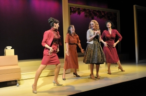 """From left, Aimee Doherty, Jennifer Mischley,  Jennifer Ellis and Rachel Gianna Tassio sing """"Marital Bliss"""" from the new musical """"Far From Heaven."""" Craig Bailey/Perspective Photo"""