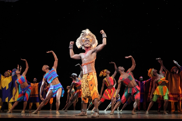 "Jelani Remy and ensemble in the national touring production of ""The Lion King."" Photo: Joan Marcus"