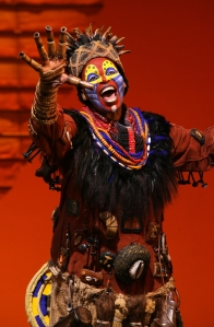 "Tshidi Manye as Rafiki in the touring production of ""The Lion King."" Photo: Joan Marcus"