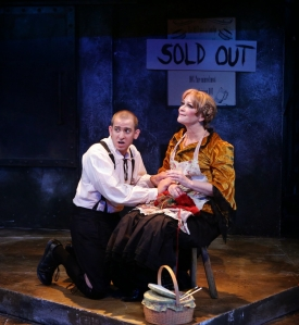 "Phil Tayler and Amelia Broome in a scane from the Lyric Stage Company's ""Sweeney Todd."" Photo: Mark S. Howard"