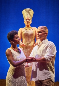 """Ta'Nika Gibson, Christiana Rodi and Gene Dante in """"Aida."""""""