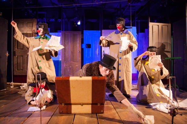 """A scene from the imaginary beast production of """"Knock: The Daniil Kharms Project."""" Photo: Roger Metcalf"""