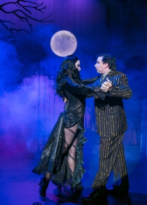 Vanessa Dunleavy (Morticia) and Steve Gagliastro (Gomez) - Photo Credit- Mark S. Howard