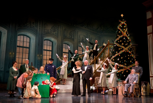"""The Company of the National Touring Production of """"Annie""""  in """"A New Deal for Christmas."""" Photo: Joan Marcus"""