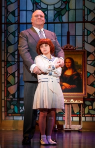 "Issie Swickle and Gilgamesh Taggett in the national touring production of ""Annie."" Photo: Joan Marcus."