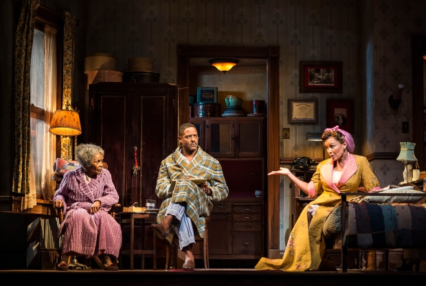 "L-R: Cicely Tyson, Blair Underwood and Vanessa Williams in the critically acclaimed, Tony-nominated Broadway revival of Horton Foote's American masterpiece ""The Trip to Bountiful"" at the Center Theatre Group / Ahmanson Theatre. Directed by Michael Wilson, ""The Trip to Bountiful"" plays through November 2, 2014. For tickets and information, please call (213) 972-4400 or visit CenterTheatreGroup.org. Contact: CTGMedia@CenterTheatreGroup.org / (213) 972-7376 Photo by Craig Schwartz"