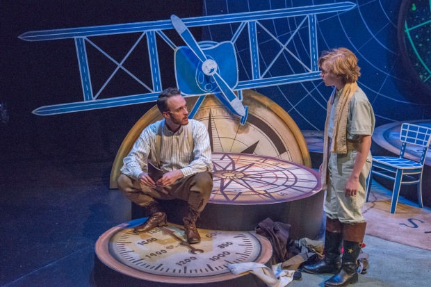 "L-R: Nick Sulfaro and Wil Moser in a scene from New Repertory Theatre's ""The Little Prince."" Photo: Andrew Brilliant, Brilliant Pictures"
