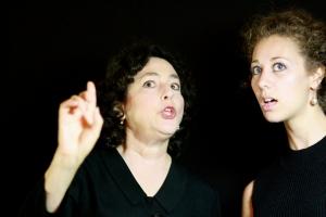 "Sheree Galpert and Sochi Fried in Hibernian Hall's ""Identity Crisis."" Photo: Clennon King"