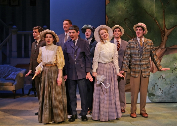 "Members of the cast of the Stoneham Theatre's ""MEET ME IN ST. LOUIS. ""-Photo credit Mark S. Howard"