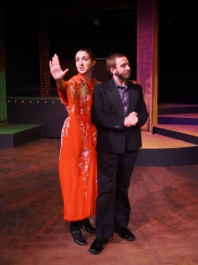"Meredith Stypinski (Abby) and Phil Tayler* (Jitter) Moonbox Productions ""Musical of Musicals (The Musical!)"" Photograph: Sharman Altshuler"