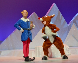Wesley Edwards as Hermey and Lexy Baeza as Rudolph. Jesse Ashton Photography