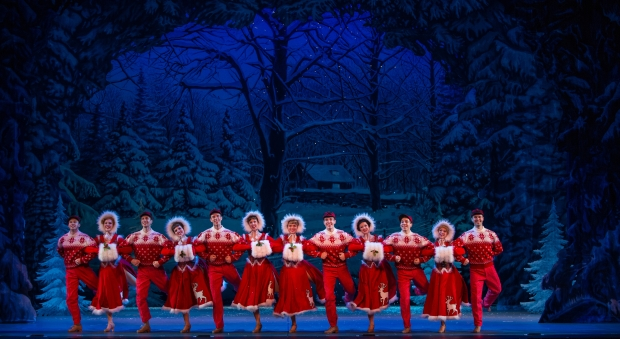 Skaters in a scene from Irving Berlin's White Christmas 2014 National Tour Company. Photo by Kevin White