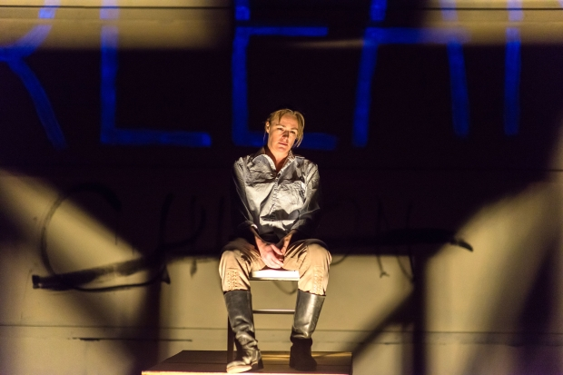 "Andrus Nichols as Joan in ""Bedlam's Saint Joan"" at the Central Square Theatre. Photo: A.R. Sinclair Photography"